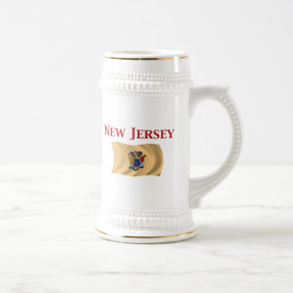 New Jersey Flag Beer Steins
