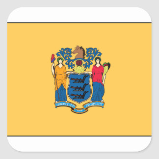 New Jersey Flag Square Sticker