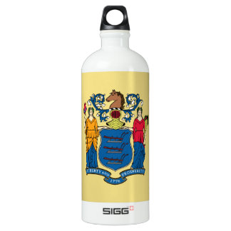 New Jersey Flag Water Bottle
