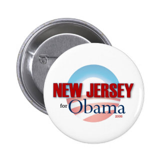 NEW JERSEY for Obama 6 Cm Round Badge