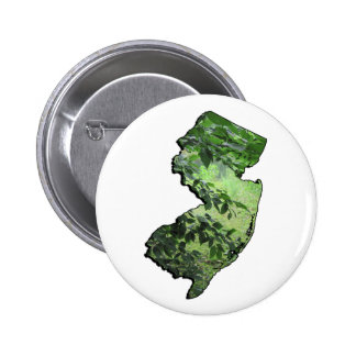 New Jersey Forest State Outline Pinback Buttons