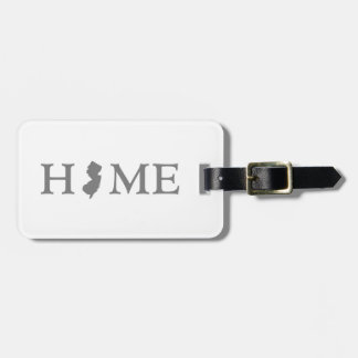 New Jersey home silhouette state map Bag Tag