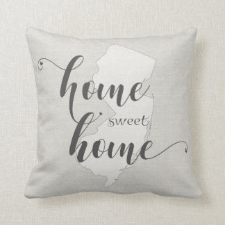 New Jersey - Home Sweet Home burlap-look Cushion