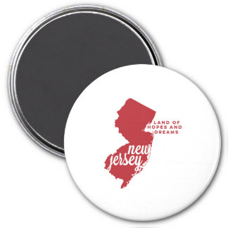 new jersey | hopes and dreams | cherry 7.5 cm round magnet