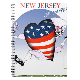 new jersey loud and proud, tony fernandes spiral notebook