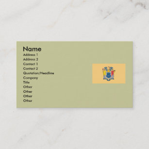 State of new jersey business cards zazzle au new jersey map and state flag business card reheart Image collections