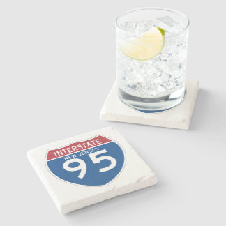 New Jersey NJ I-95 Interstate Highway Shield - Stone Coaster