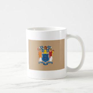 New Jersey  Official State Flag Basic White Mug