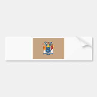 New Jersey  Official State Flag Bumper Sticker