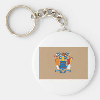New Jersey  Official State Flag Basic Round Button Key Ring