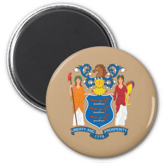 New Jersey  Official State Flag 6 Cm Round Magnet