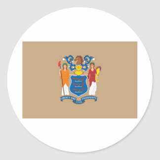 New Jersey  Official State Flag Round Sticker