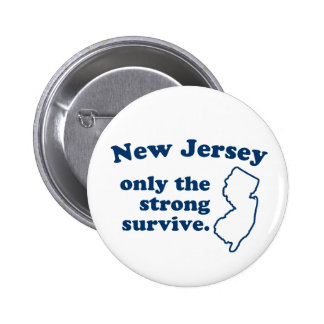 New Jersey Only The Strong Survive 6 Cm Round Badge