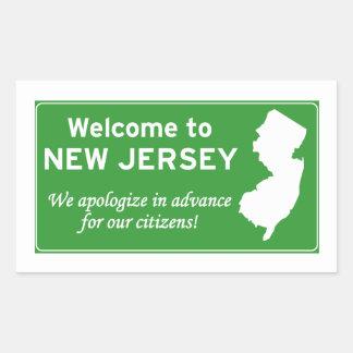 New Jersey Rectangular Sticker