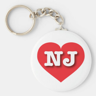 New Jersey Red Heart - Big Love Key Ring