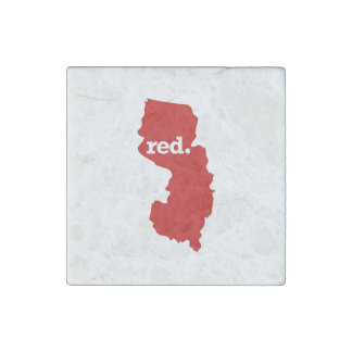 NEW JERSEY RED STATE STONE MAGNET