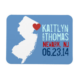 New Jersey Save the Date - Customizable City Magnet