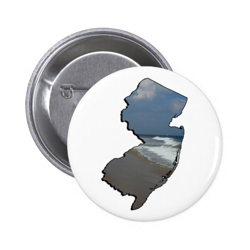 New Jersey Shore State Outline Button