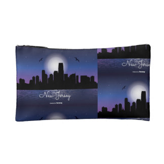 New Jersey Skyline at Night Cosmetic Bag