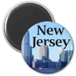 New Jersey Skyline with New Jersey in the Sky Magnet