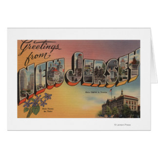 New Jersey (State Capital/Flower) Greeting Cards