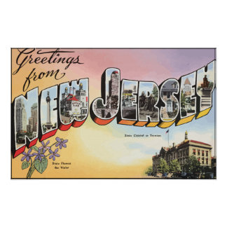 New Jersey State Capital In Teenion, Vintage Posters