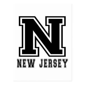 New Jersey State Designs Postcard