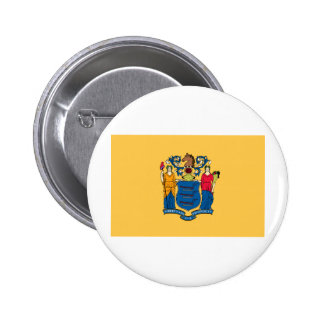 New Jersey State Flag 6 Cm Round Badge