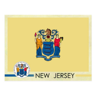 New Jersey State Flag and Seal Postcard