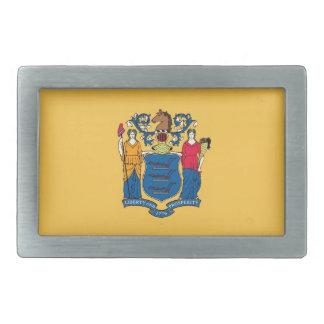 New Jersey State Flag Rectangular Belt Buckles