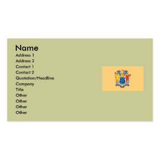 New Jersey State Flag Business Card Template