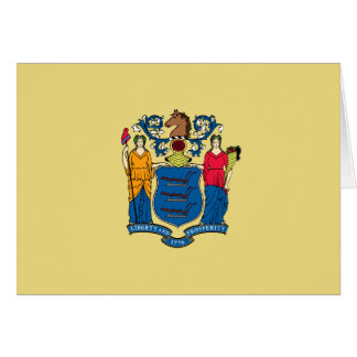 New Jersey State Flag Greeting Cards