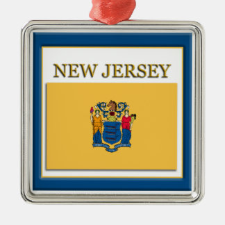 New Jersey State Flag Christmas Ornament