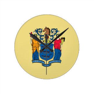 New Jersey State Flag Wallclock