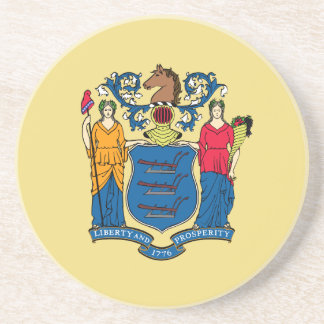 New Jersey State Flag Coaster