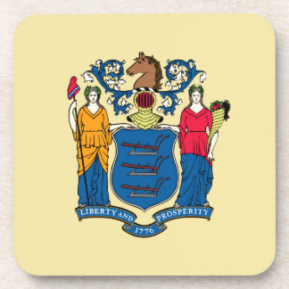 New Jersey State Flag Beverage Coaster