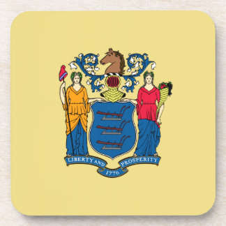 New Jersey State Flag Drink Coaster