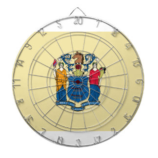 New Jersey State Flag Dartboard With Darts