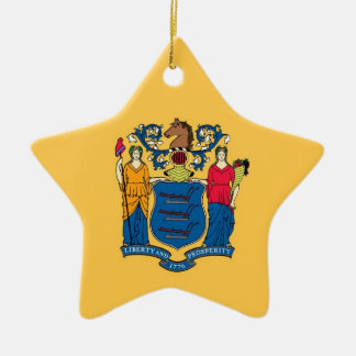New Jersey State Flag Ornaments