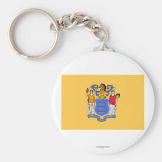 New Jersey State Flag Key Chain