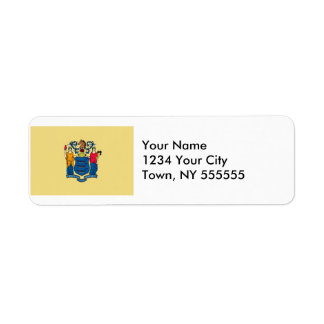 New Jersey State Flag Return Address Label
