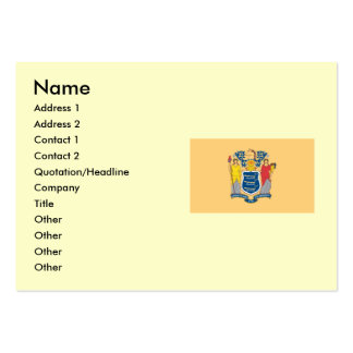 New Jersey State Flag Pack Of Chubby Business Cards