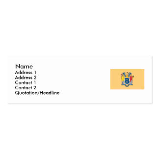 New Jersey State Flag Pack Of Skinny Business Cards