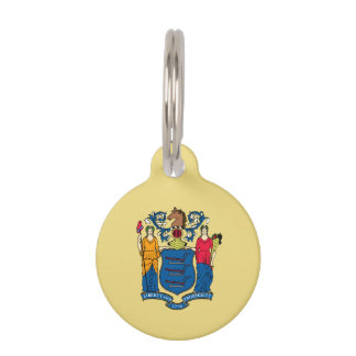 New Jersey State Flag Pet Nametag