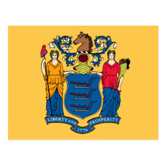 New Jersey State Flag Postcard