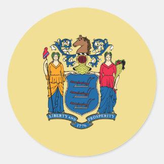 New Jersey State Flag Sticker