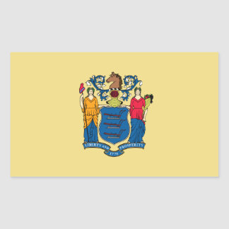 New Jersey State Flag, United States Rectangular Sticker