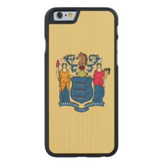 New Jersey State Flag Carved® Maple iPhone 6 Slim Case