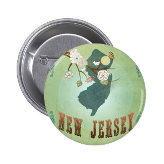 New Jersey State Map – Green Buttons