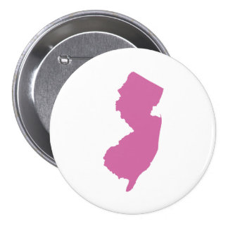 New Jersey State Outline Pinback Buttons
